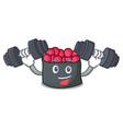 fitness ikura character cartoon style vector image vector image