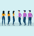 flat design ready to animation characters vector image vector image