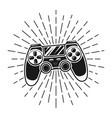 gamepad with sunburst rays vector image vector image