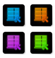 glowing neon database server with screwdriver and vector image vector image