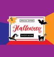 halloween sale handwritten lettering vector image vector image