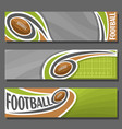 horizontal banners for american football vector image vector image