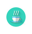 hot coffee cup icon isolated symbol beverage vector image