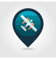 Hydroplane pin map icon Summer Vacation vector image vector image