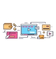 Icon Flat Style Viral Video and Social Marketing vector image vector image
