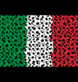 italy flag consisting of football balls vector image vector image