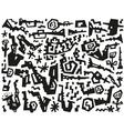 jazz - doodles set vector image vector image