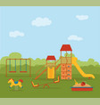 kid s playground colorful cartoon vector image vector image