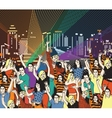 Lgbt gay homosexual night disco party vector image