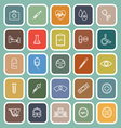 Medical line flat icons on green background vector image vector image