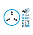 Move Out Flat Icon With Bonus vector image vector image