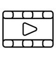 movies videos icon vector image vector image
