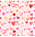 pattern with valentine grunge hearts vector image