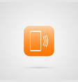 phone call icon app symbol for your web site vector image vector image