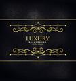 premium luxury invitation background with golden