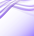 Purple and white waves modern futuristic abstract vector image vector image