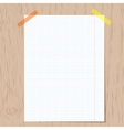 Realistic squared notebook paper vector image vector image
