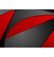 Red black wavy corporate background vector image vector image