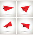 red paper airplanes vector image