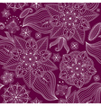 Repeating dark violet floral pattern vector image