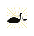 retro flamingo silhouette vector image vector image