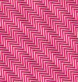 Retro fold magenta diagonal striped zigzag vector image vector image