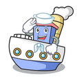 sailor ship character cartoon style vector image