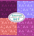 seamless easter pattern set with four patterns vector image vector image