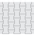 Seamless Interlocking Pavement Background - Grey vector image vector image