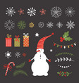 season greetingsmerry christmas vector image vector image
