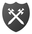 Security Shield Gradient Icon vector image vector image