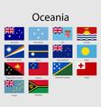 set flags oceanian countries all oceania flag