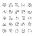 set of internet doodle vector image vector image
