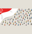 singapore independence anniversary celebration and vector image vector image