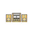 Sound System computer symbol vector image vector image