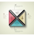 Square banner infographics vector image