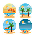 summer landscape different scene beach vector image