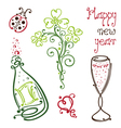 Sylvester happy new year vector image