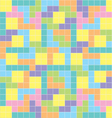 Tetris background pastel colors vector image vector image