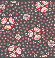 tossed pretty floral red cream and pink vector image vector image