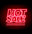 trendy promo banner hot sale with neon font vector image
