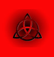 triquetra logo trinity knot sign wiccan symbol vector image vector image