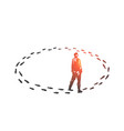 vicious circle monotony concept sketch hand vector image vector image