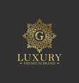vintage and luxury logo design template vector image vector image