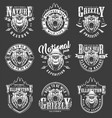vintage yellowstone national park labels set vector image vector image