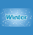 winter font style vector image vector image