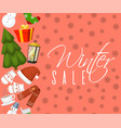 winter sale banner nature vector image