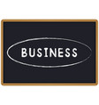 word business chalk written on a blackboard vector image