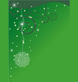 green ornate x-mas backdrop vector image