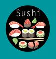 Beautiful of delicious Japanes vector image